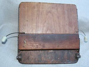 Vintage Wood Desk Top Secretary Paper Book Holder