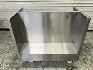 Randell 41 x 24 Dish And Tray Stainless Steel Bus Cart Side Load 8986 Bulk Nsf
