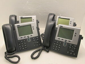 Lot 4 Cisco Cp 7940g Ip Voip Business 2 line Phones Tested Ships Today