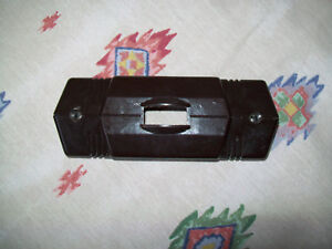 Vintage Bakelite 5 Ge Art Deco Single Switch Brown Electrical Outlet Cover