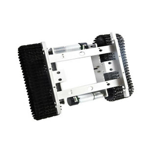 Silver 12v Tank Chassis Smart Robot Tank Chassis Car With Code Wheel