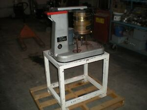 Tyler Ro tap Model B Testing Sieve Shaker On Steel Frame 120vac Test Ran Ok