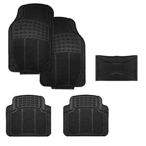 All Weather Rubber 5pc Set Custom Fit Heavy Duty 88 89oz Car Floor Mats