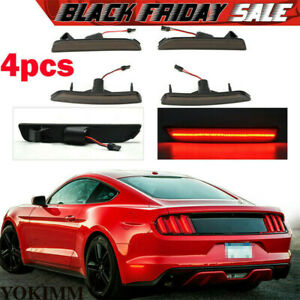 New Front Rear Smoked Led Side Marker Bumper Lights Fit Ford Mustang 2010 2014