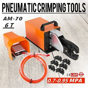 Am 70 Pneumatic Crimping Machine 6t Crimping Tool Wire Dual action Cylinder