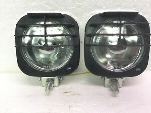 Nos Pair Vintage Ipf Series 86 Driving Lights Off Road Abs Plastic Chrome Jeep