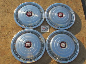 1978 Cadillac Deville 15 Wheel Covers Hubcaps Set Of 4