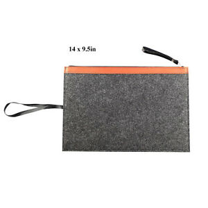 Wholesale Lot 10 Portable Felt File Folder Briefcase Zipper Document Bag Paper