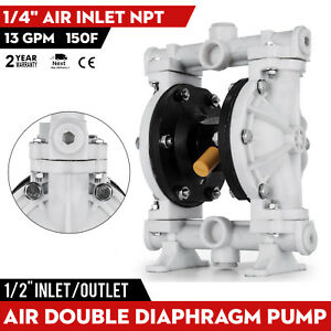 Air operated Double Diaphragm Pump 69 M 226 4 Ft 1 4in Air Inlet Qby 15pp