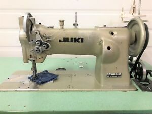 Juki Luh 520 2 needle Walking Foot 1 4 Big Bobbins 110v Ndustrial Sewing Machine