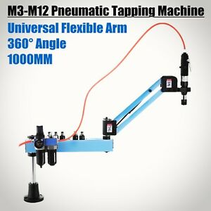 Vertical Pneumatic Tapping Drilling Machine Flexible Arm 400rpm Tapping Collet