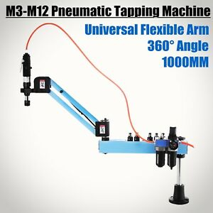 Vertical Pneumatic Tapping Drilling Machine Radius 1000mm 360 Angle Horizontal