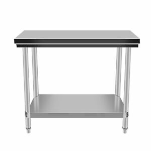 24 X 48 Stainless Steel Kitchen Work Table Commercial Kitchen Restaurant Xv