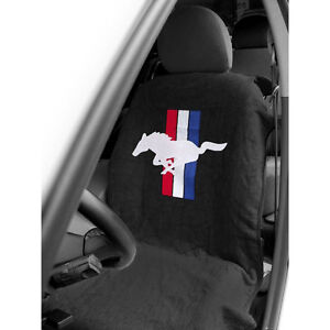 Mustang Seat Armour Seat Cover Black With Pony Logo Cj Pony Parts
