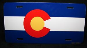 Colorado State Flag Metal Novelty License Plate Tag For Cars