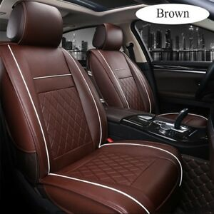 Pu Leather Universal Car Seat Cover Protector Full Front Rear Seat Cushion Mat