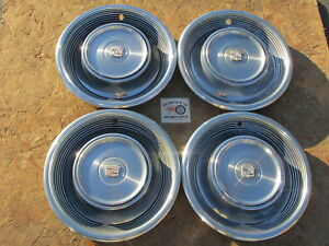 1968 1969 Cadillac Deville Calais 15 Wheel Covers Hubcaps Set Of 4