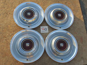 1980 1981 Cadillac Deville 15 Wheel Covers Hubcaps Set Of 4