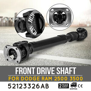 Hq Front Drive Shaft For Dodge Ram 2500 3500 Auto Transmission 52123326ab Great