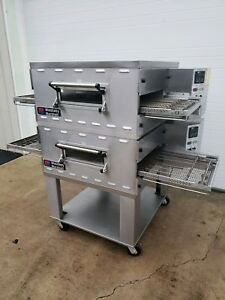 Middleby Marshall Ps536 Gas Fired Double Deck Conveyor Pizza Oven Belt Width 20