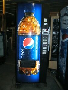 Dixie Narco 276 e Bottles Cans Pop Drink Machine remote Key Led Lights