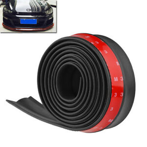 Universal 2 5m Car Front Bumper Lip Splitter Body Side Spoiler Protector Rubber