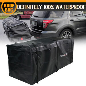 Rainproof Waterproof Luggage Tow Trailer Hitch Cargo Mounted Carrier Bag Black