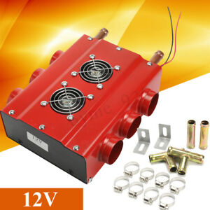 6 Ports Car Truck Underdash Universal Double Compact Air Heater W Speed Switch