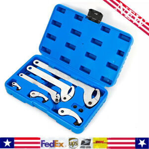 From 35 120mm Adjustable Pin hook Spanner Wrench Set For Locking Nut Ring Bear