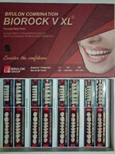 3 Boxes Teeth Set For Acrylic Flexible Dentures By Biorock V 4 Sets In A Box