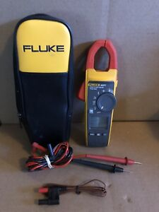 Fluke 902 Fc Hvac Amp Clamp Meter Digital Multimeter W Lead And Case used
