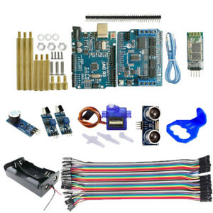 Bt Ultrasonic Uno R3 Motor Driver Board Ir Obstacle Avoidance For Arduino