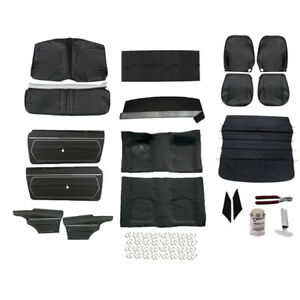 Pui Basic Black Interior Kit 1969 Camaro Coupe Bucket Seats