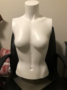 Female Mannequin Realistic Torso Form Display W base