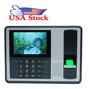 4 Inch Tft Attendance Machine Biometric Fingerprint Time Clock Reader K2b7