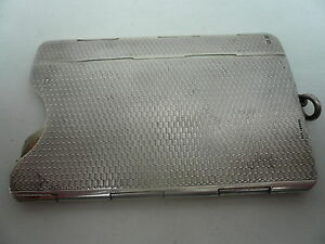 Collapsibe Silver Cigarette Packet Holder Case Sterling English Hm 1920