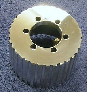 New 1 2 Pitch W 33 Tooth Blower Supercharger Pulley Snout Hemi Gasser Chevy 671