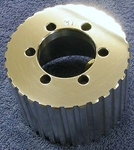 New 1 2 Pitch W 31 Tooth Blower Supercharger Pulley Snout Hemi Gasser Chevy 671