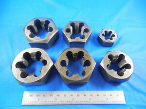 Lot Of Hexagon Dies 1 1 4 8 1 1 4 7 1 16 1 8 5 8 18 Machine Shop Tools