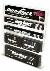 Dura Block Af44a 6 Piece Sanding Block Set Kit Car Auto Body Work Sander Bl