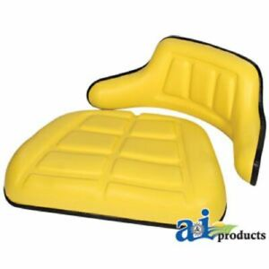 John Deere Seat Cushion Set Wrap Around Back Arms