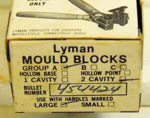 Lyman #454424 - 2 Cavity mould - NEW - no longer made - .452 255gr SWC