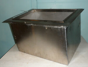 Hd Commercial booth Inc Insulated Drop in 8 In 8 Out Cold Plate Ice Bin
