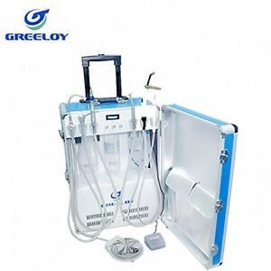 Portable Dental Unit With Air Compressor Led Curing Light Ultrasonic Scaler 2h