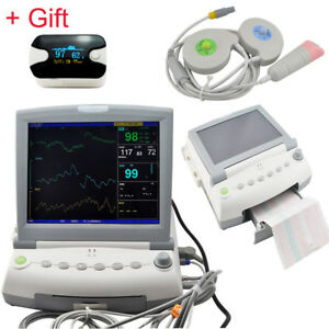 Ce Medical 12 Maternal Fetal Monitor Fhr Toco Twins Single Patient Printer Gift