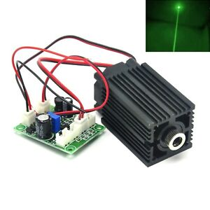 532nm 100mw Green Dot Long time Laser Diode Module 12v Driver Fan Cooling