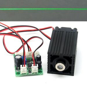 532nm Green 100mw Line Positioning Laser Diode Module Focusable 12v Driver Ttl