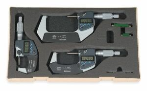 Mitutoyo Digital Outside Micrometer Set Micrometers Included 1 2 3 0 To