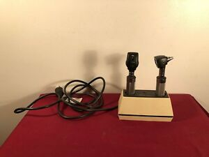 Welch Allyn 7110 Charger 20520 Otoscope And 11720 Opthalmoscope Works