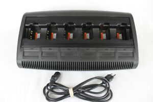 Motorola Impres Wpln4197 Multi unit Bank Charger Ht1250 Ex600